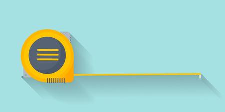Illustration pour Ruler in a flat style. Scale. Width and length. Measurement tool. Vector illustration - image libre de droit