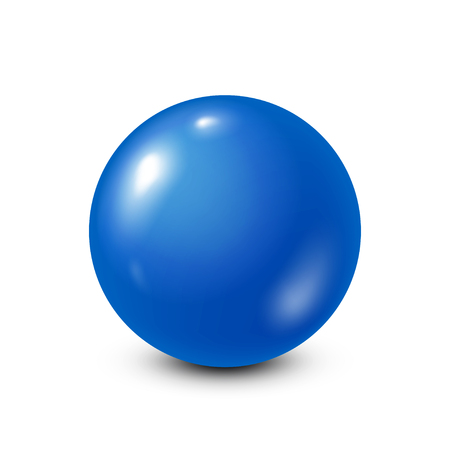 Illustration pour Blue lottery, billiard,pool ball. Snooker. White background. Vector illustration. - image libre de droit