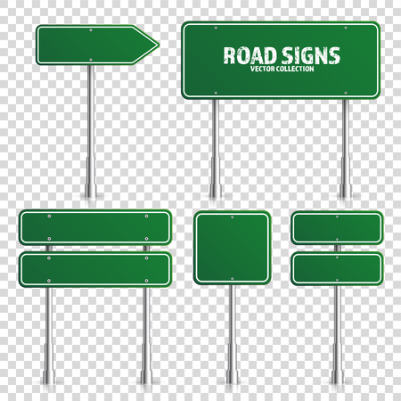 Illustration pour Road green traffic sign. - image libre de droit