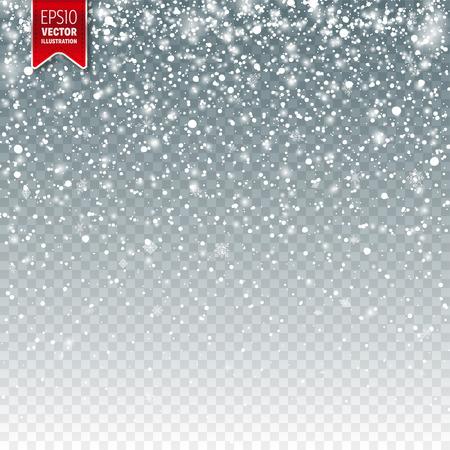 Ilustración de Snow with snowflakes template design. - Imagen libre de derechos