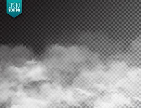 Ilustración de Realistic fog, mist effect. Smoke isolated on transparent - Imagen libre de derechos