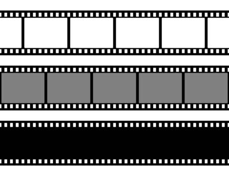 Illustration pour Film strips collection. Old retro cinema strip. - image libre de droit