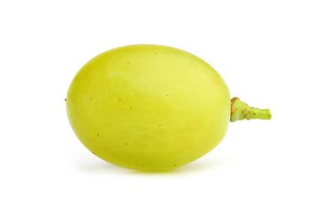 white grape close-up on white