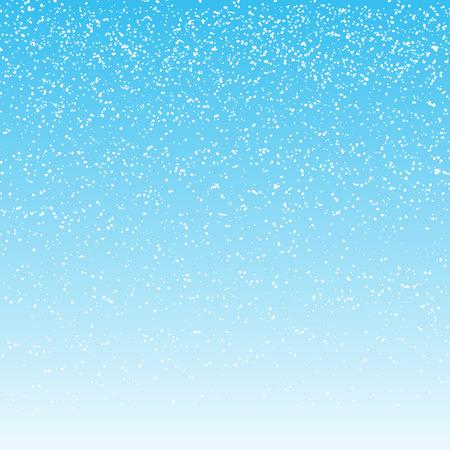 falling snow on light blue background. vector illustration