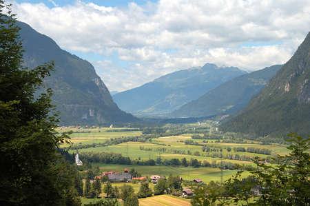 landscape in austria