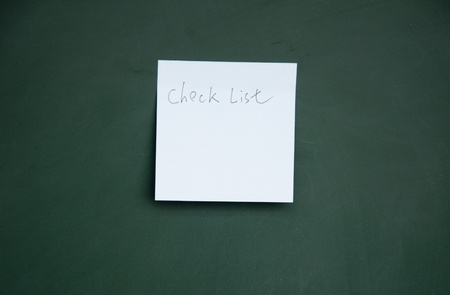 check list note