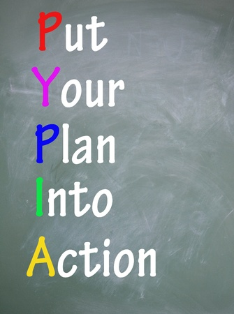 Photo for put your plan into action title  - Royalty Free Image