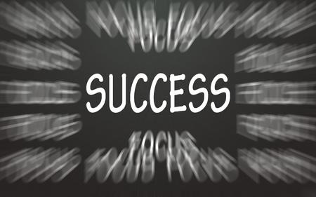 success symbol focus