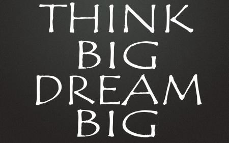 Photo pour think big dream big title - image libre de droit