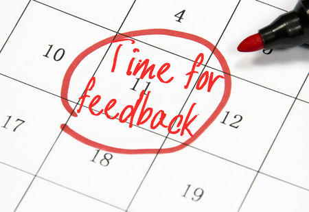 time for feedback sign on paper