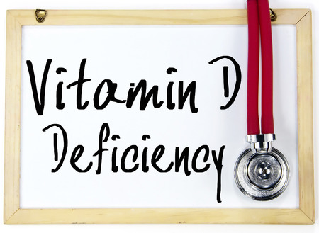 vitamin d deficiency text write on whiteboard