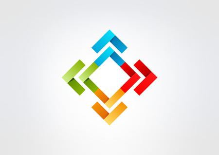 square corporate business  vector logo design