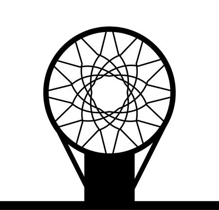 Illustration for Monohrome basketball basket icon isolated on a white background, vector illustration - Royalty Free Image