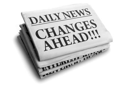 Daily news newspaper headline reading changes ahead