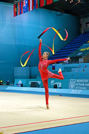 KIEV - AUG 29: 32nd Rhythmic Gymnastics World Championships on August 29, 2013 in Kiev, Ukraine. 56 different nations representing all continents in the tournament.
