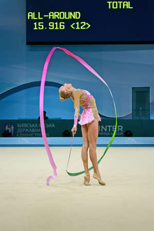 KIEV - AUG 30: 32nd Rhythmic Gymnastics World Championships on August 30, 2013 in Kiev, Ukraine. 56 different nations representing all continents in the tournament.