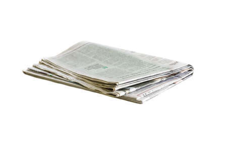 Photo pour Newspaper folded and stacked black and white background blurred - image libre de droit