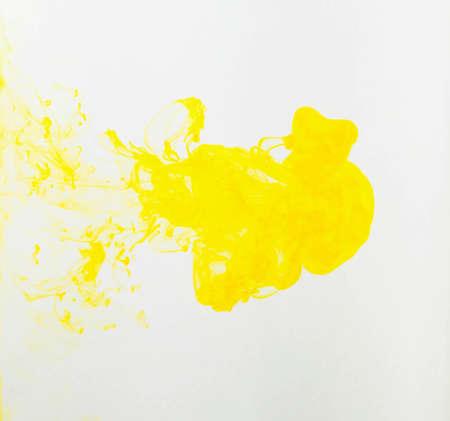 Photo pour yellow color abstract paint on white background - image libre de droit