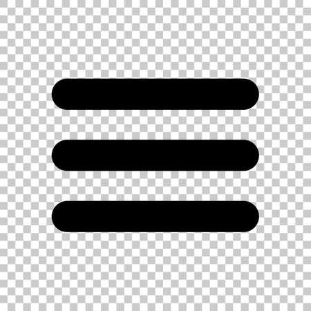 Illustration for Hamburger menu. Web icon. On transparent background. - Royalty Free Image