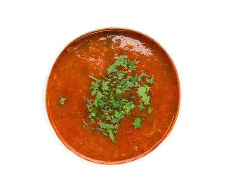 Kharcho soup on an isolated background