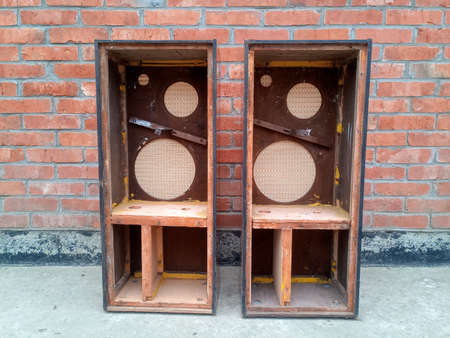 Photo for Cases from speakers Symphony 2. Retro acoustics of the 1960s. - Royalty Free Image