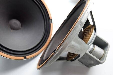 Photo for Antique Soviet woofer 5gd-3 from vintage acoustics Symphony. - Royalty Free Image