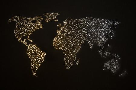 Foto de Abstract world map on night sky - Imagen libre de derechos