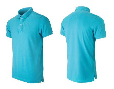 Photo pour Grey polo tshirt design template isolated on white - image libre de droit