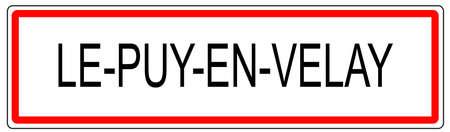 Le Puy en Velay city traffic sign illustration in France