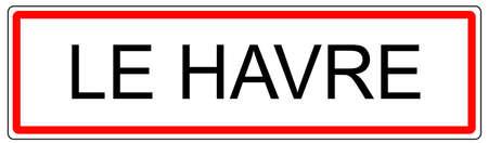 Le Havre city traffic sign illustration in France