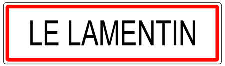 Le Lamentin city traffic sign illustration in France