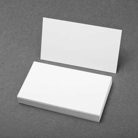 Photo pour blank business cards on grey background - image libre de droit