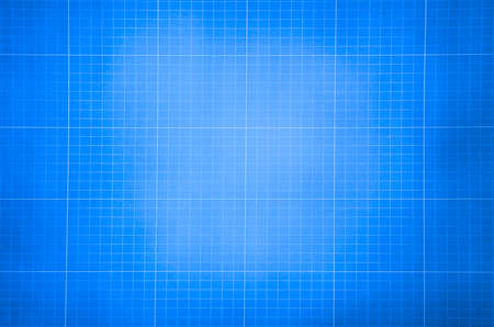 Photo pour Millimeter engineering paper. Blue graph paper background. Graph paper for building and architectural drawings - image libre de droit