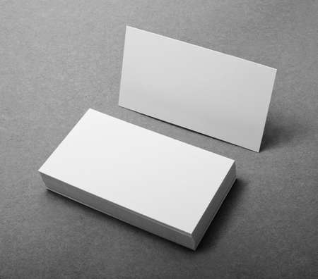 Foto de blank business cards, identity design, corporate templates, company style - Imagen libre de derechos