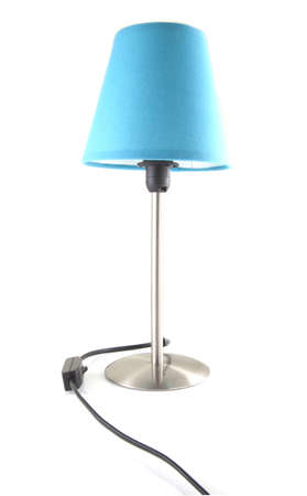 Blue twilight lamp on a white background.
