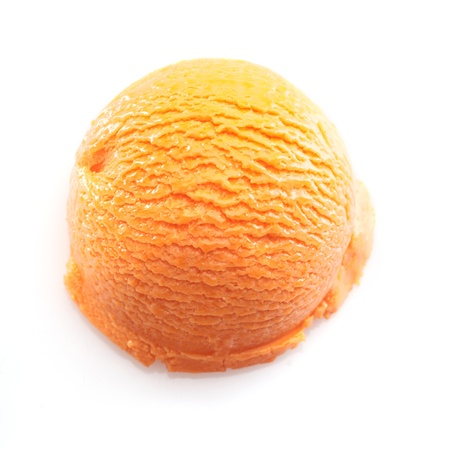 High angle view on a Orange scoop of icecream. For ice-cream concept take a look at my portfolio