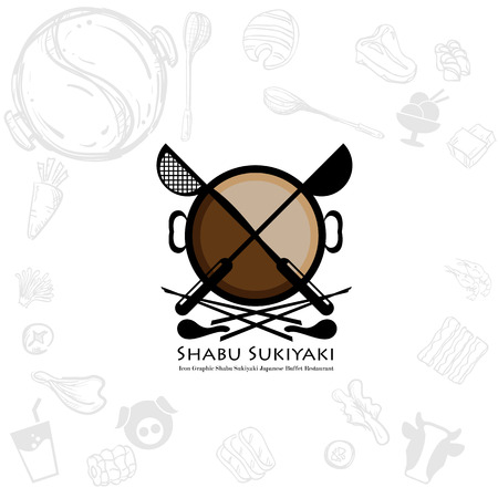 Buffet Icons Set Cartoon Style Royalty Free Vector Graphics