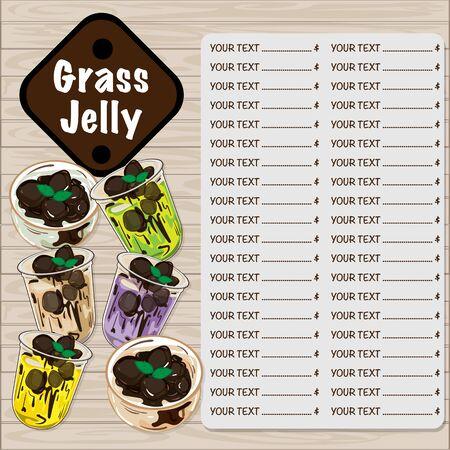 Illustration pour menu grass jelly graphic template - image libre de droit