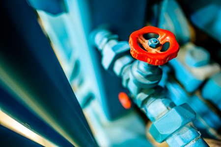 Foto de old valve and tube - closeup - Imagen libre de derechos