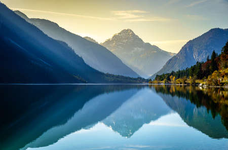 Photo for famous Plansee in Austria in autumn - Royalty Free Image