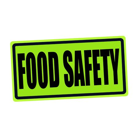 FOOD SAFETY black stamp text on green