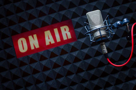 Photo for professional microphone in radio studios - Royalty Free Image