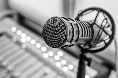Photo for Professional microphone and Sound Mixer - Royalty Free Image