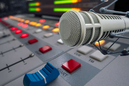 Photo for Professional microphone in radio studio - Royalty Free Image