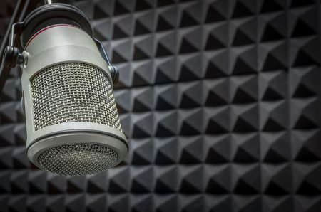 Photo for Background with professional microphone - Royalty Free Image