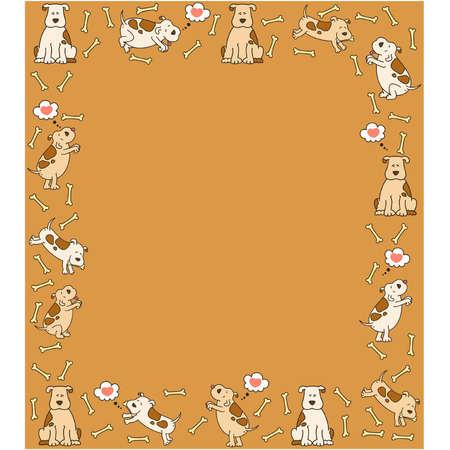 Illustration of cartoon dog