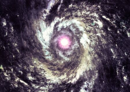 Swirling Space Cloud