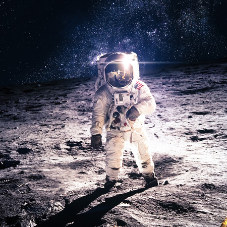 Photo for Astronaut on the moon - Royalty Free Image