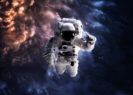 Astronaut in outer space.の写真素材