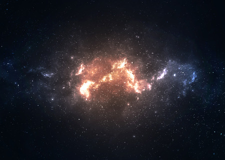 Star field in  deep space many light years far from the Earth.
